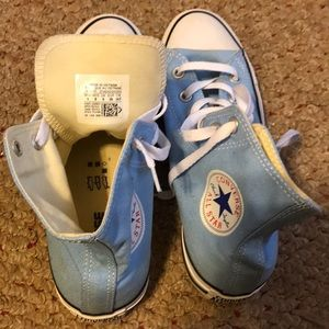 Mens Size 8 Blue High Top Converse